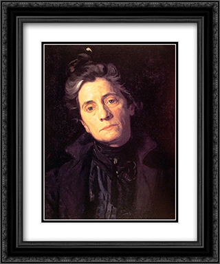 Mrs Thomas Eakins 20x24 Black or Gold Ornate Framed and Double Matted Art Print by Thomas Eakins