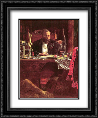 Professor Benjamin Howard Rand 20x24 Black or Gold Ornate Framed and Double Matted Art Print by Thomas Eakins