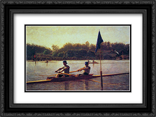 The Biglin Brothers Turning the Stake 24x18 Black or Gold Ornate Framed and Double Matted Art Print by Thomas Eakins