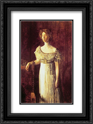 The Old Fashioned Dress'Portrait of Miss Helen Parker 18x24 Black or Gold Ornate Framed and Double Matted Art Print by Thomas Eakins