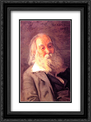 Walt Whitman 18x24 Black or Gold Ornate Framed and Double Matted Art Print by Thomas Eakins
