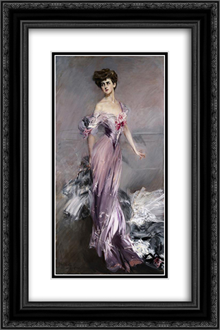 Portrait of Mrs. Howard Johnston 16x24 Black or Gold Ornate Framed and Double Matted Art Print by Giovanni Boldini