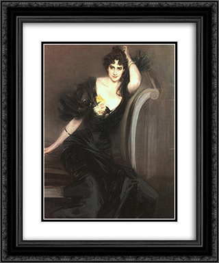 Lady Colin Campbell 20x24 Black or Gold Ornate Framed and Double Matted Art Print by Giovanni Boldini