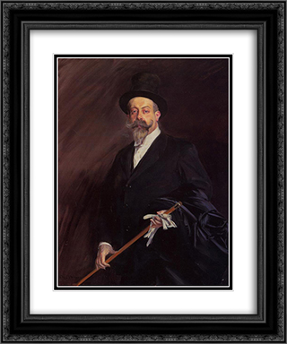 Portrait of 'Willy', The Writer Henri Gauthier'Villarscirca 20x24 Black or Gold Ornate Framed and Double Matted Art Print by Giovanni Boldini
