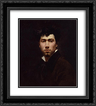 Portrait of a Young Man 20x22 Black or Gold Ornate Framed and Double Matted Art Print by Giovanni Boldini