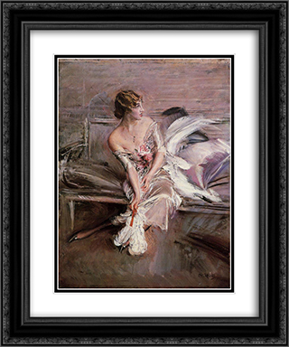 Portrait of Gladys Deacon 20x24 Black or Gold Ornate Framed and Double Matted Art Print by Giovanni Boldini