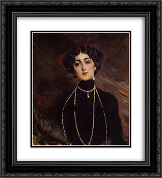Portrait of Lina Cavalieri 20x22 Black or Gold Ornate Framed and Double Matted Art Print by Giovanni Boldini