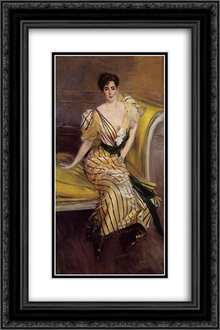 Portrait of Madame Josephina Alvear de Errazuriz 16x24 Black or Gold Ornate Framed and Double Matted Art Print by Giovanni Boldini