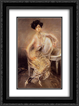 Portrait of Rita de Acosta Lydig 18x24 Black or Gold Ornate Framed and Double Matted Art Print by Giovanni Boldini