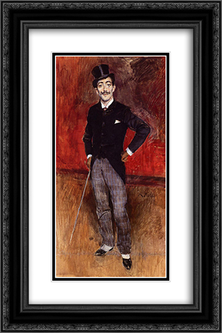 Portrait of the Comte de Rasty 16x24 Black or Gold Ornate Framed and Double Matted Art Print by Giovanni Boldini