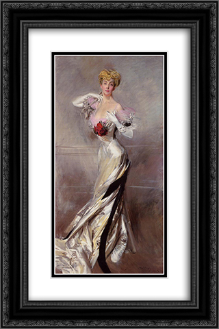 Portrait of the Countess Zichy 16x24 Black or Gold Ornate Framed and Double Matted Art Print by Giovanni Boldini