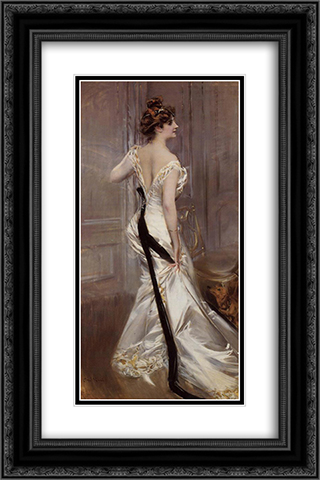 The Black Sash 16x24 Black or Gold Ornate Framed and Double Matted Art Print by Giovanni Boldini