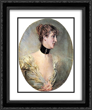 The Countess Ritzer 20x24 Black or Gold Ornate Framed and Double Matted Art Print by Giovanni Boldini