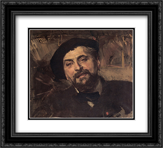 Portrait of the Artist Ernest'Ange Duez (1843'1896) 22x20 Black or Gold Ornate Framed and Double Matted Art Print by Giovanni Boldini