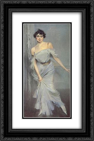 Madame Charles Max 16x24 Black or Gold Ornate Framed and Double Matted Art Print by Giovanni Boldini