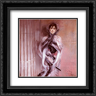 Portrait Of Emiliana Concha De Ossa 20x20 Black or Gold Ornate Framed and Double Matted Art Print by Giovanni Boldini