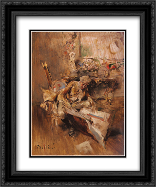 The Art Connoisseur 20x24 Black or Gold Ornate Framed and Double Matted Art Print by Giovanni Boldini