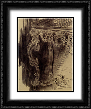 Study Of A Table 20x24 Black or Gold Ornate Framed and Double Matted Art Print by Giovanni Boldini