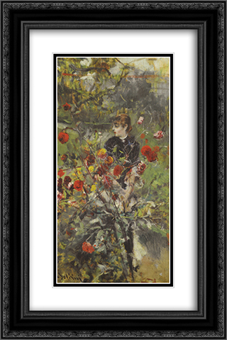 The Summer Roses 16x24 Black or Gold Ornate Framed and Double Matted Art Print by Giovanni Boldini