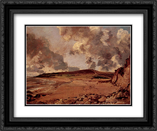 Weymouth Bay 24x20 Black or Gold Ornate Framed and Double Matted Art Print by John Constable