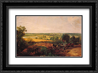 View of Dedham 24x18 Black or Gold Ornate Framed and Double Matted Art Print by John Constable