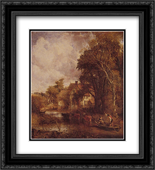 The Valley Farm 20x22 Black or Gold Ornate Framed and Double Matted Art Print by John Constable