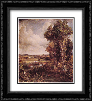 Dedham Vale 20x22 Black or Gold Ornate Framed and Double Matted Art Print by John Constable