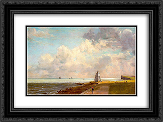 Harwich Lighthouse 24x18 Black or Gold Ornate Framed and Double Matted Art Print by John Constable