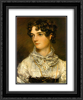 Maria Bicknell 20x24 Black or Gold Ornate Framed and Double Matted Art Print by John Constable
