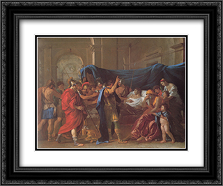 The Death of Germanicus ' detail 24x20 Black or Gold Ornate Framed and Double Matted Art Print by Nicolas Poussin