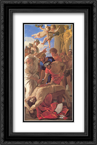 The Martyrdom of St Erasmus 16x24 Black or Gold Ornate Framed and Double Matted Art Print by Nicolas Poussin