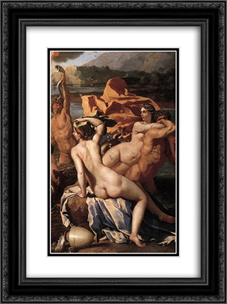 The Triumph of Neptune [detail: 2] 18x24 Black or Gold Ornate Framed and Double Matted Art Print by Nicolas Poussin