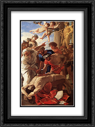 The Matyrdom of St Erasmus 18x24 Black or Gold Ornate Framed and Double Matted Art Print by Nicolas Poussin