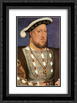 Portrait of Henry VIII 18x24 Black or Gold Ornate Framed and Double Matted Art Print by Hans Holbein the Younger