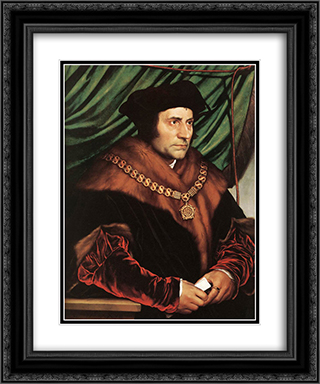 Sir Thomas More 20x24 Black or Gold Ornate Framed and Double Matted Art Print by Hans Holbein the Younger