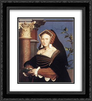 Portrait of Lady Mary Guildford 20x22 Black or Gold Ornate Framed and Double Matted Art Print by Hans Holbein the Younger