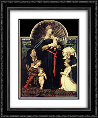 Darmstadt Madonna 20x24 Black or Gold Ornate Framed and Double Matted Art Print by Hans Holbein the Younger