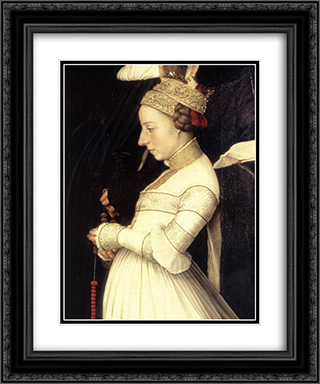 Darmstadt Madonna [detail: 3] 20x24 Black or Gold Ornate Framed and Double Matted Art Print by Hans Holbein the Younger