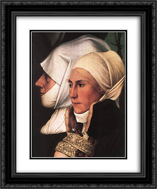 Darmstadt Madonna [detail: 4] 20x24 Black or Gold Ornate Framed and Double Matted Art Print by Hans Holbein the Younger