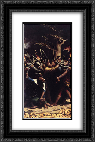 The Passion [detail: 2] 16x24 Black or Gold Ornate Framed and Double Matted Art Print by Hans Holbein the Younger