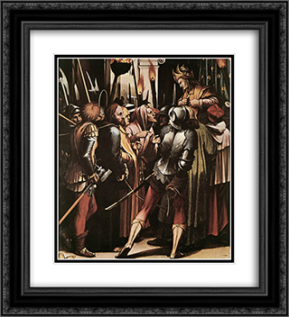 The Passion [detail: 5] 20x22 Black or Gold Ornate Framed and Double Matted Art Print by Hans Holbein the Younger