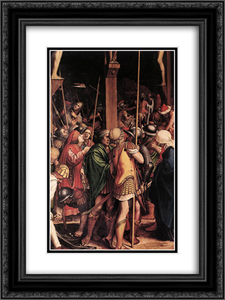The Passion [detail: 7] 18x24 Black or Gold Ornate Framed and Double Matted Art Print by Hans Holbein the Younger