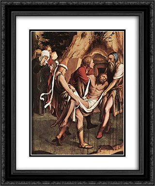 The Passion [detail: 8] 20x24 Black or Gold Ornate Framed and Double Matted Art Print by Hans Holbein the Younger