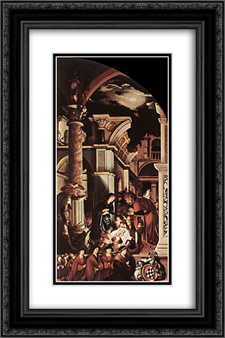 The Oberried Altarpiece (right wing) 16x24 Black or Gold Ornate Framed and Double Matted Art Print by Hans Holbein the Younger