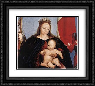 The Solothurn Madonna [detail: 1] 22x20 Black or Gold Ornate Framed and Double Matted Art Print by Hans Holbein the Younger