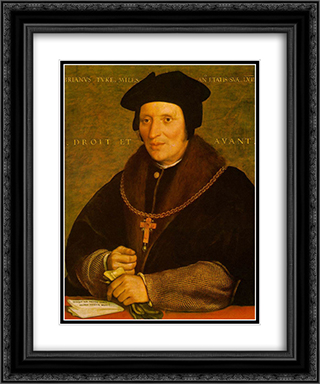 Sir Brian Tuke 20x24 Black or Gold Ornate Framed and Double Matted Art Print by Hans Holbein the Younger