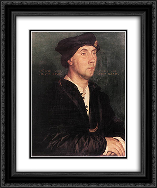 Sir Richard Southwell 20x24 Black or Gold Ornate Framed and Double Matted Art Print by Hans Holbein the Younger