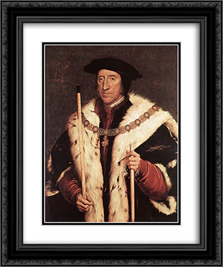 Thomas Howard, Prince of Norfolk 20x24 Black or Gold Ornate Framed and Double Matted Art Print by Hans Holbein the Younger