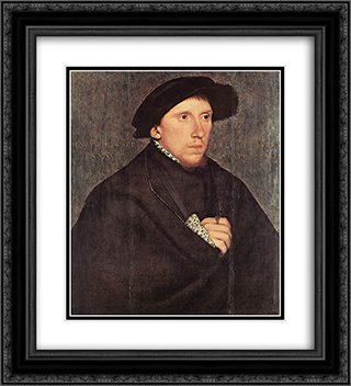 Portrait of Henry Howard, the Earl of Surrey 20x22 Black or Gold Ornate Framed and Double Matted Art Print by Hans Holbein the Younger