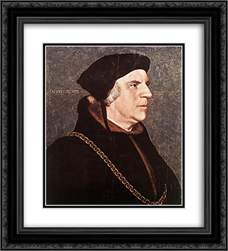 Portrait of Sir William Butts 20x22 Black or Gold Ornate Framed and Double Matted Art Print by Hans Holbein the Younger